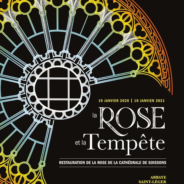 Exposition la rose et la tempete cathédrale Soissons < Soissons